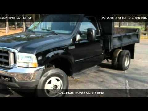 2002 Ford F350 XLT SD 4WD DRW Mason DumpTruck - for sale ...