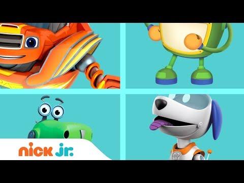 Mixed-Up Robots 🤖 w/ Blaze, Botasaur, Robo-Dog & Bot | Nick Jr.
