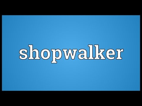 Header of shopwalker