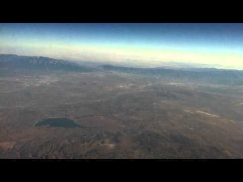 Takeoff from LAX to IAH, flying over Palm Springs