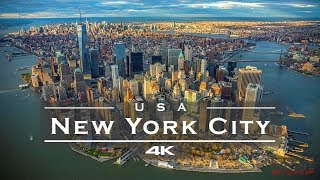New York City (NYC), USA 🇺🇸 - by drone [4K]