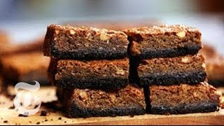 Making Chocolate-crusted Banana Blondies - Melissa Clark | The New York Times