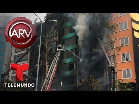Fatal incendio en salón de karaoke en Vietnam | Al Rojo Vivo | Telemundo