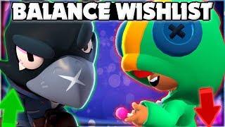 Balance Change UPDATE Wishlist! - Buffs u0026 Nerfs Brawl Stars NEEDS!