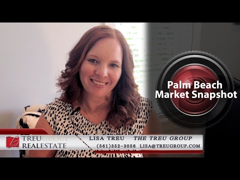 Palm Beach Real Estate Agent: The Palm Beach market is looking good!
