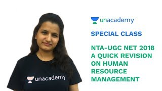 Special Class - NTA/UGC NET 2018 - A Quick Revision on Human Resource Management - Pooja Rani
