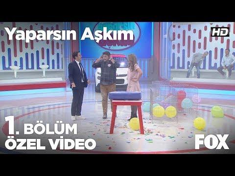 Serhan ve Naomi'nin balon patlatma oyunu m�lesi stüdyodan alkış aldı! Yaparsın Aşkım 1. Bölüm