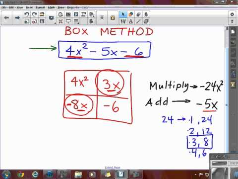 Factoring Quadratics Box Method
