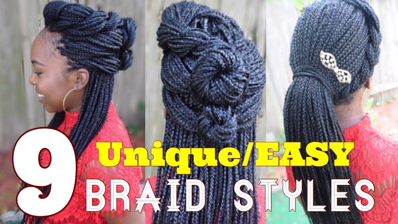Box Braids Hairstyles Youtube: 9 AMAZINGLY Unique Box Braid Styles