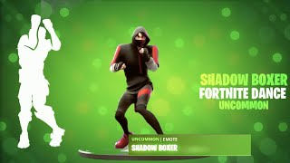 FORTNITE SHADOW BOXER EMOTE (WITH DIFFERENT SKINS!)