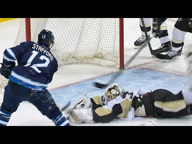 Zatkoff dives over to rob Stafford of a goal