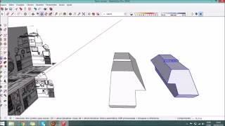 Como desenhar um tanque de guerra no SketchUp / How to draw a battle tank in SketchUp Part 1