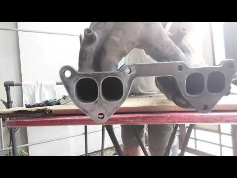 Cleaning and disassembly of exhaust manifold.