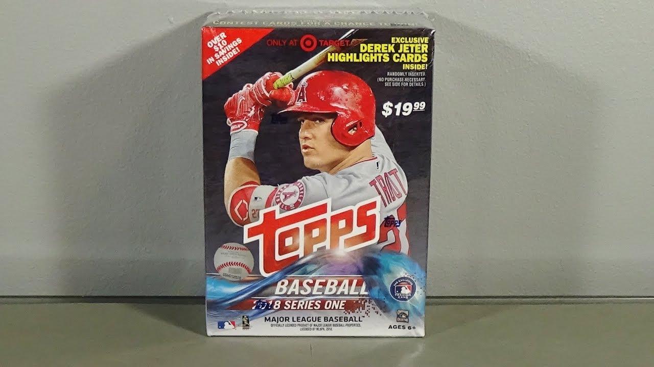 2018 Topps Series 1 Baseball Blaster Box Break Nice