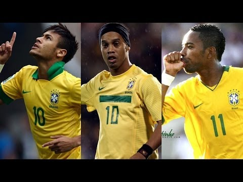 Ronaldinho ● Neymar ● Robinho - Crazy Samba Skills Show   HD