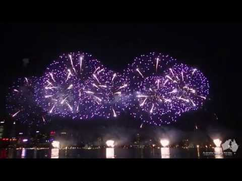 2015 Australia Day Fireworks Show in Perth