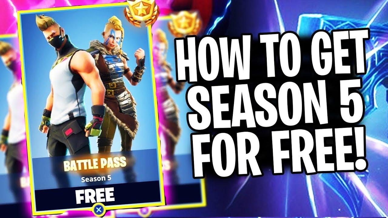 "HOW TO GET SEASON 5 BATTLE PASS FREE!! ""Fortnite Season 5 Is Amazing!"""