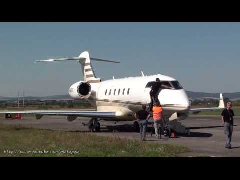 Bombardier BD-100-1A10 jet engines start up & take off