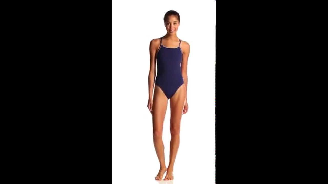 34c390a49aff0 Speedo Solid Endurance + Thin Strap Swimsuit