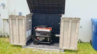 Generator Enclosure Shed with Harbor Freight 6500/5500 Predator Generator