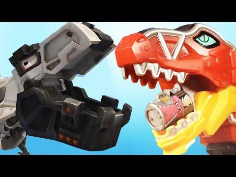 Dinotrux: Trux It Up Vs Power Rangers  Go Go Power Ranger  Fun Animated Kids Games For Children