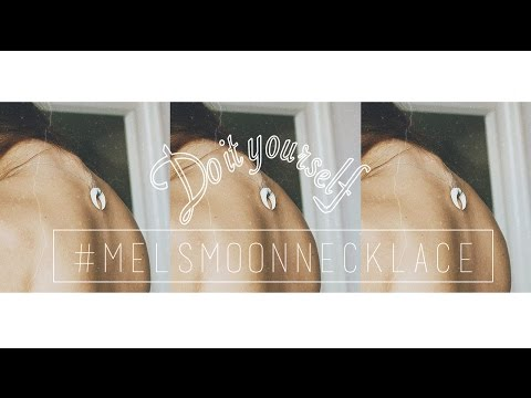 DIY   MOON NECKLACE   #melsmoonnecklace   Amissmelle