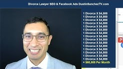 Does Online Marketing Work For Divorce Lawyers? SEO + Facebook + YouTube