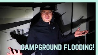 OUR CAMPGROUND FLOODED! || RV LIVING