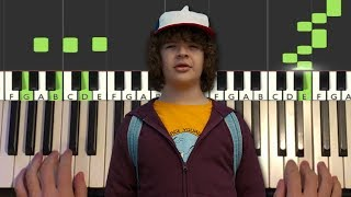 Stranger Things 3 - The NeverEnding Story (Piano Tutorial Lesson) видео