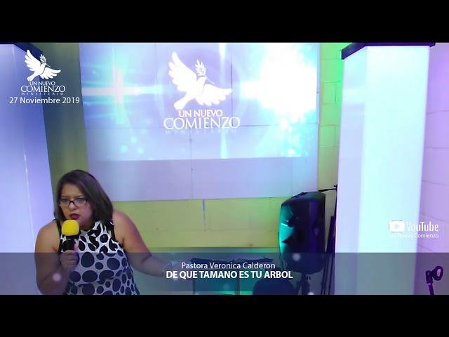 Predica # 128 - DE QUE TAMANO ES TU ARBOL- Pastora Veronica Calderon