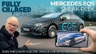 Mercedes EQS Sneak Peek: Does this luxury electric vehicle live up to the hype? | Fully Charged CARS
