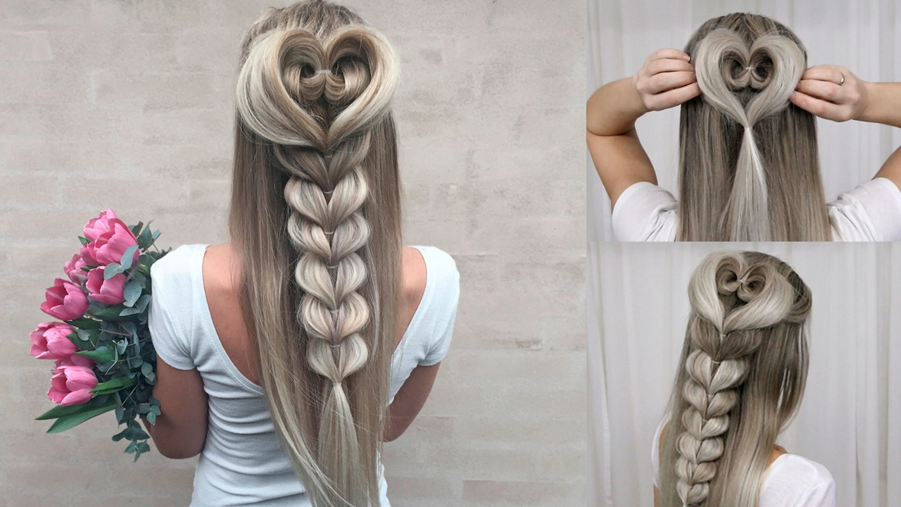 Heart Braid Combo Tutorial DIY Perfect For Prom