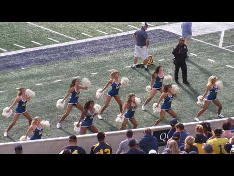 California Dance Team @ Cal vs. Idaho State Football 2018 Memorial Stadium Berkeley California