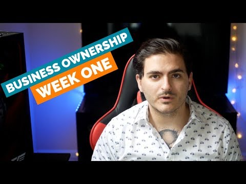 My Entrepreneurial Journey - Episode 2: Week One of Business Ownership thumbnail
