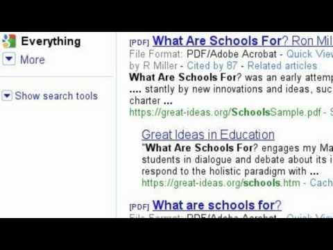 In The Search Of Education