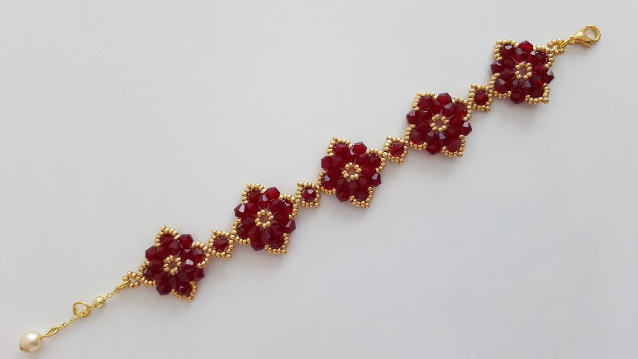 Kolay ve Şık Kristal Bileklik Yapımı || Easy and Elegant Bracelet Making #Tutorial #DIY