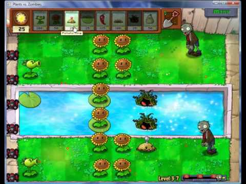 Let's Play/Co-Op - Plants vs Zombies (6) - Tire Poppin' Fun!