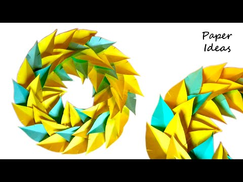 How to make WREATH from paper | HOME DECORATION