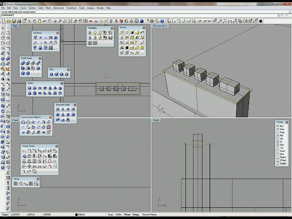 Create 3d House   Part 2 1   Make 3d Model In Rhino
