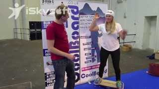 Chemmy Alcott interview CoolBoard balance board for ski fitness