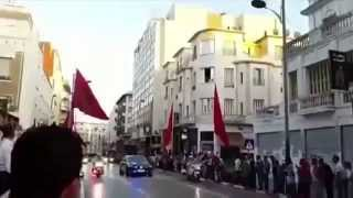 Accident by royal Security car during visit of Francois Hollande in Morocco 2015