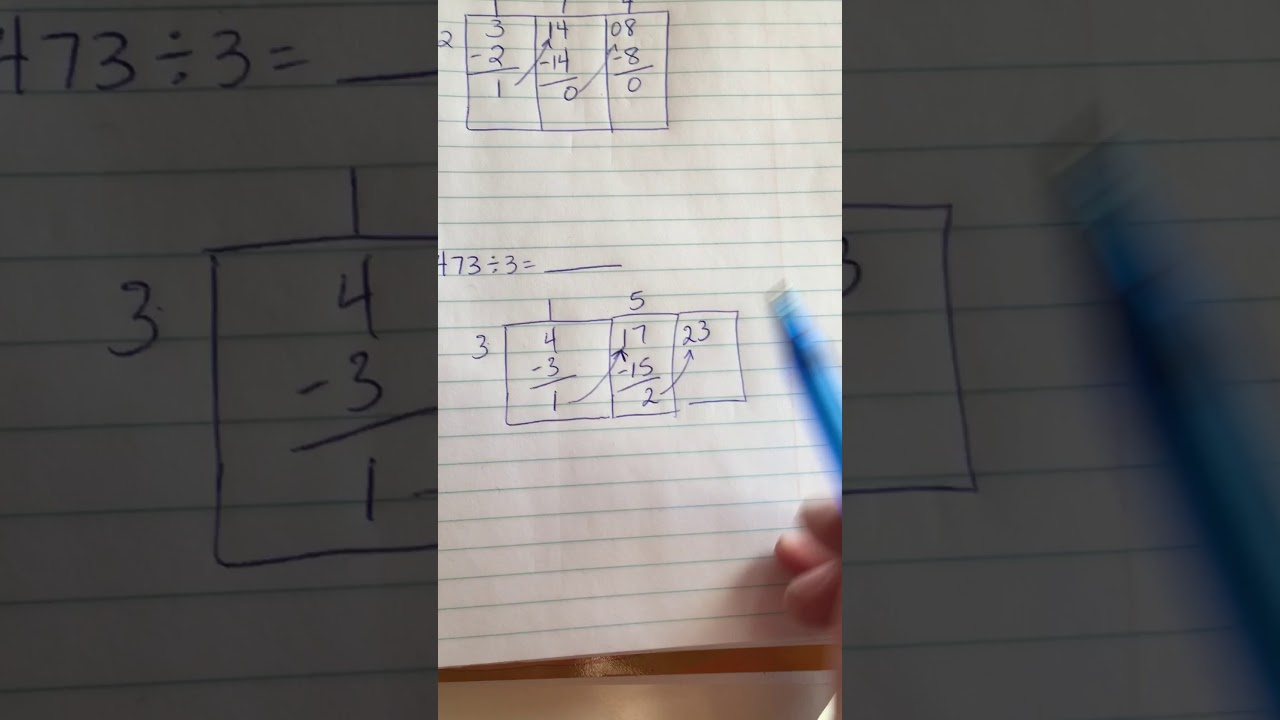The Grid Method for Long Division - Shelley Gray [ 720 x 1280 Pixel ]
