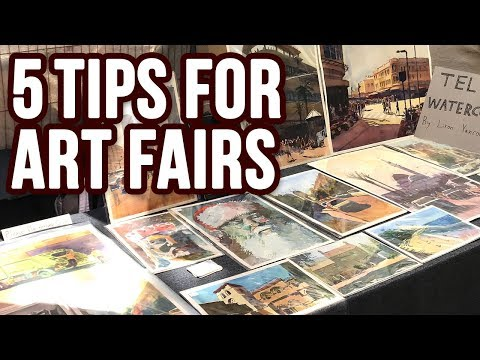 5 Tips To Sell MORE Paintings / Artwork In Art Fairs