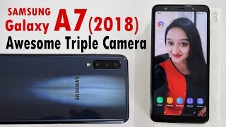 Samsung Galaxy A7(2018) - Unboxing & Overview(AWESOME Camera) in Hindi