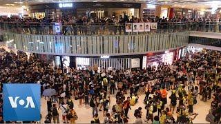 Sit-in at Yoho Mall Next to Yuen Long Station, Hong Kong