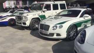 Dubai Police Fleet of Luxury and Supercars