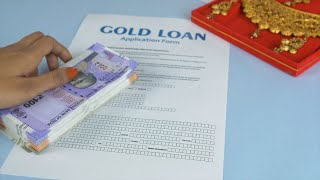 Closeup shot of a blank Gold loan application form - pawnshop concept in India
