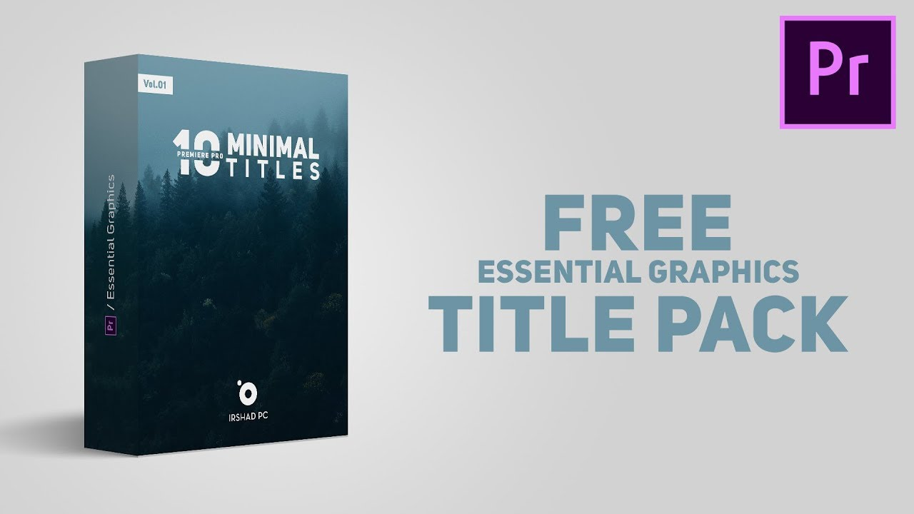 10 minimal titles pack free premiere pro template