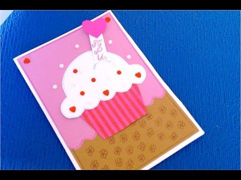 DIY. Как сделать открытку из бумаги || Поздравительная Открытка на День Рождения своими руками ||