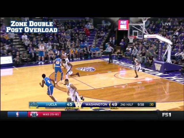 Washington Huskies Zone Double Post Overload